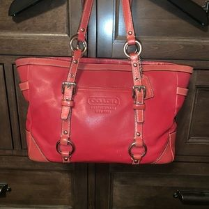 Authentic Coach Red Leather Purse